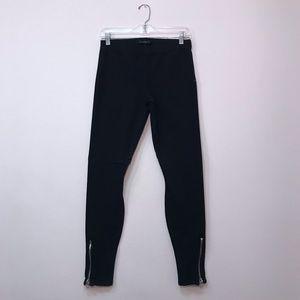 Joe's Jeans Black Skinny Zippers Elastic Waist M